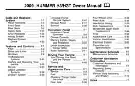 Hummer H3 / H3T Handbuch 2009 PDF