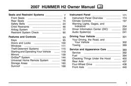 Hummer H2 Handbuch 2007 PDF