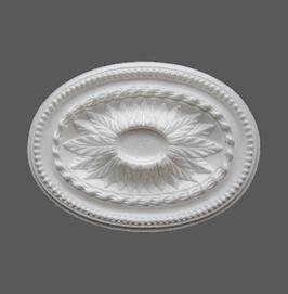 F 01  Rosace en polystyrène, d: 33 x 45 cm