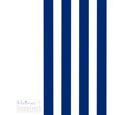 Papiertüten dunkelblau-weiß gestreift, 13x18cm