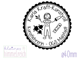Lehrer-Stempel Kunst & Werken