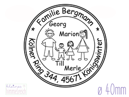 "Familienstempel ""Bergmann"" ø40mm"