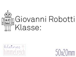 Schulstempel Roboter 50x20 mm