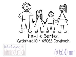 "Familienstempel ""Berten"" 60x50mm"