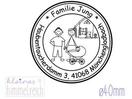 "Familienstempel ""Jung"" ø 40mm"