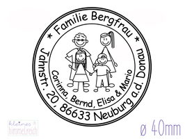 "Familienstempel ""Bergfrau"" ø40mm"