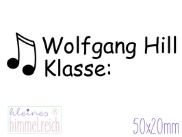 Schulstempel Musiknote 50x20 mm