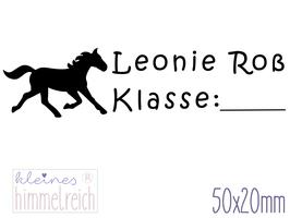 Schulstempel Pferd#1 50x20 mm