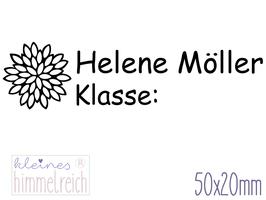 Schulstempel Chrysantheme 50x20 mm