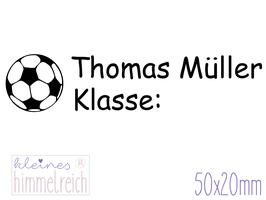 Schulstempel Fußball 50x20 mm