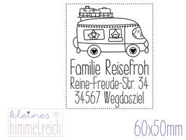 """Adress-Stempel """"Caravan"""" 60x50mm"""