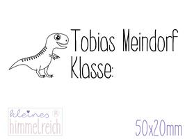Schulstempel  Dinosaurier 50x20 mm