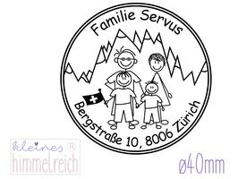 """Familienstempel """"Servus"""" ø40mm"""