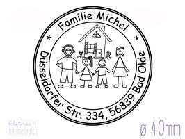 """Familienstempel """"Michel"""" ø40mm"""