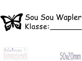 Schulstempel Schmetterling 50x20 mm