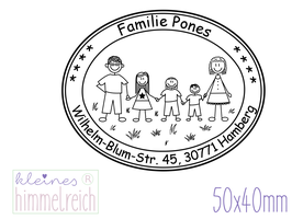"Familienstempel ""oval"" 50x40mm"
