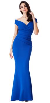 Bardot Pleated Maxi Dress