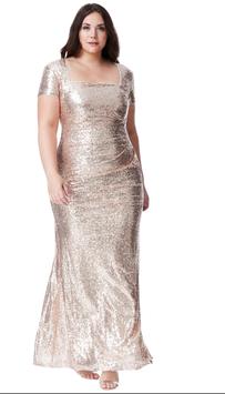Plus Size Sequin Portrait Neckline Maxi Dress
