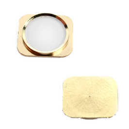 iphone 5 ring button look iphone 5s with gummi rubber WHITE + GOLD HK