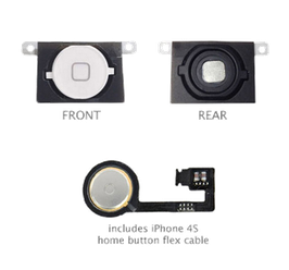iPhone 4GS Home Button With Flex Cable White HK