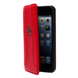 Booktcase Ferrari FF iPhone 5/5S/5SE Rood