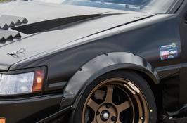 AE86レビン用 カーボンジャンキーフロントフェンダーセット
