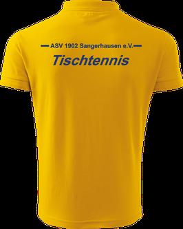 Pique Poloshirt Herren, Tischtennis, gelb