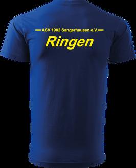 T-Shirt Heavy, Ringen, royal blau