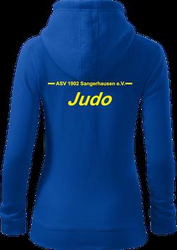 Damen Sweatjacke m. Kapuze, Judo, royal blau