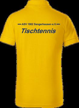 Pique Poloshirt Kids, Tischtennis, gelb