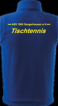 Bodywarmer unisex, Tischtennis, royal blau