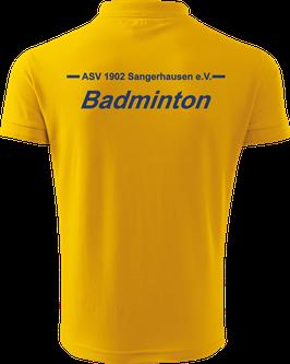 Pique Poloshirt Herren, Badminton, gelb