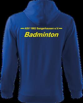 Sweatjacke m. Kapuze Herren, Badminton, royal blau