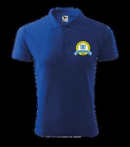 Pique Poloshirt Herren, Nordic Walking, royal blau