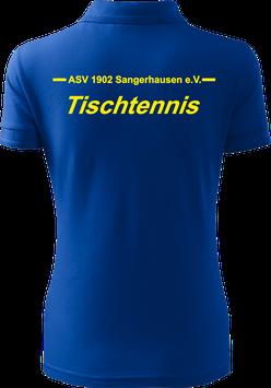 Pique Poloshirt Damen, Tischtennis, royal blau