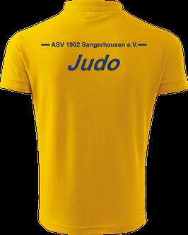Pique Poloshirt Herren, Judo, gelb