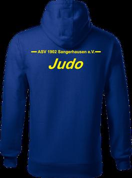 Hoodie Herren, Judo, royal blau