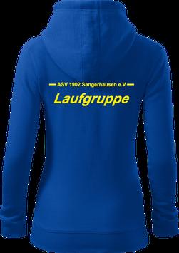 Damen Sweatjacke m. Kapuze, Laufgruppe, royal blau