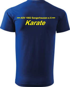 T-Shirt Heavy, Karate, royal blau