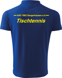 Pique Poloshirt Herren, Tischtennis, royal blau