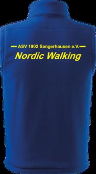 Bodywarmer unisex, Nordic Walking, royal blau
