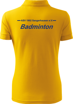 Pique Poloshirt Damen, Badminton, gelb