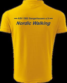 Pique Poloshirt Herren, Nordic Walking, gelb