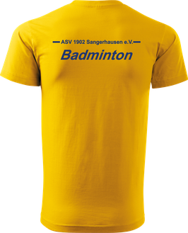 T-Shirt Heavy, Badminton, royal blau