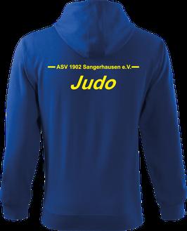 Sweatjacke m. Kapuze, Judo, royal blau