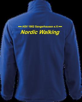 Herren Fleecejacke, Nordic Walking, royal blau
