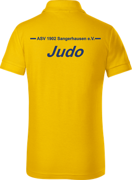 Kinder Poloshirt, Judo, gelb