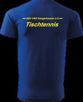 T-Shirt Heavy, Tischtennis, royal blau