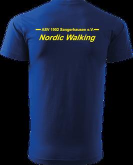 T-Shirt Heavy, Nordic Walking, royal blau