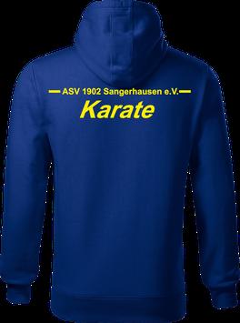 Hoodie Herren, Karate, royal blau